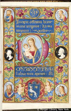 Book of Hours, MS M.80 fol. 13r - Book of Hours Italy, Milan, ca. 1450-1475 MS M.80 fol. 13r