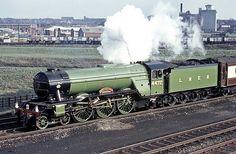 LNER class A3 Pacific (4-6-2)  No 4472 'Flying Scotsman' Flying Scotsman, Steam Railway, Train Art, British Rail, Steam Engine, Steam Locomotive, Great Britain, Transportation, Hobbies