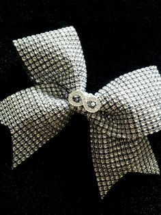 Silver Infinity Rhinestone Bling Cheer Bow for by Bowfriendz Bling Cheer Bows, Cute Cheer Bows, Cheer Mom, Big Bows, Cheer Stuff, Cheerleading Bows, Cheerleader Hair, Cheer Funny, Cheer Outfits