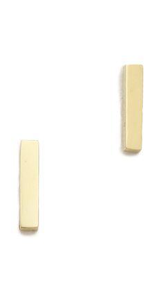 Gorjana Taner Bar Mini Stud Earrings | SHOPBOP