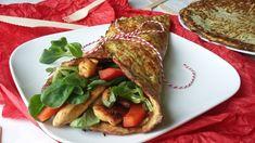Diétás tortilla lap reszelt cukkiniből, akár vacsorára is fogyasztható! Savory Snacks, Zucchini, Hamburger, Meal Planning, Healthy Living, Clean Eating, Paleo, Food And Drink, Beef