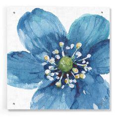 Epic Art 'Blue and Green Garden V' by Lisa Audit, Acrylic Glass Wall Art - 24x24
