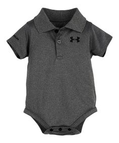 Under Armour® Carbon Heather Polo Bodysuit - Infant