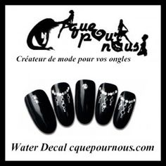 Stickers d'ongles Nail art Water decal bijou d'orient argent