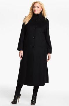Cinzia Rocca Long Wool & Cashmere Coat (Plus)   Nordstrom
