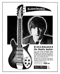 """For a long time now, John and his Rickenbacker have been inseparable..."""