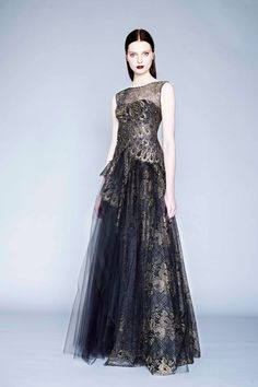 Margaery in Baratheon colours - Marchesa Notte Fall 2015