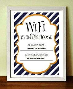 Wifi password sign colors available Wifi password sign Printable wifi sign Guest room wifi signal Wifi  Password Wifi is on the house