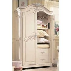 Lea Jessica McClintock Romance Door Chest in White Girls Furniture, Cheap Bedroom Furniture, French Furniture, Furniture Decor, Jessica Mcclintock, Bespoke Furniture, Contemporary Furniture, White Armoire, Art Deco Bed