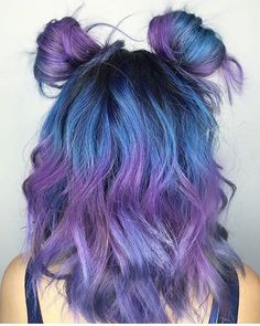 Purple blue hair