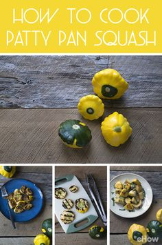 Pattypans are a beautiful summer squash similar in texture and flavor to zucchini. Three easy preparations include roasting, grilling, and sautéing. Patty Pan Squash Recipes, Yellow Squash Recipes, Summer Squash Recipes, White Patty Pan Squash Recipe, Winter Recipes, Vegetable Dishes, Vegetable Recipes, Sunburst Squash