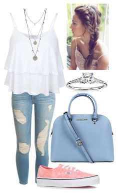 """""""Untitled #3375"""" by heyitskelsea ❤ liked on Polyvore featuring Frame Denim, Miss Selfridge, Vans, Michael Kors, Blue Nile and Vince Camuto"""