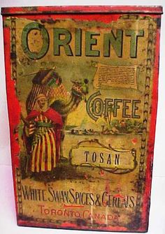 Early Lithographed Tea/Coffee Tin
