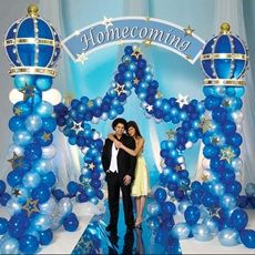 1000 images about prom on pinterest balloon columns for Balloon decoration instructions