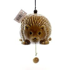 HEDGEHOG GARDEN BELL Ceramic Windchime 10521