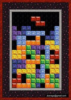QuilterGeek: How to make a Tetris Quilt