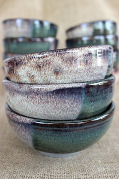 Ceramic bowls, Stoneware, wheel thrown, made to order by AudPottery on Etsy