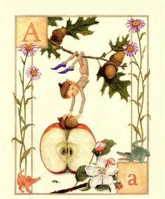 Lauren Mills Elfabet,illustration art, graphics, children book illustration