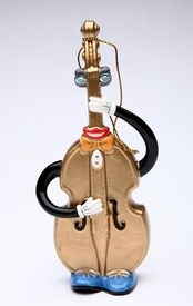 Musical Muse Double Basses Tree Ornaments by Ed Sussman, Set of 4