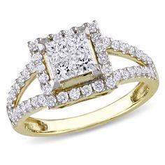 1.00 CT. T.W. Princess-Cut Quad Diamond Split Shank Ring in 14K Gold - Peoples Jewellers 1.00 CT. T.W. Princess-Cut Quad Diamond Split Shank Ring in 14K Gold - - View All Rings - Peoples Jewellers