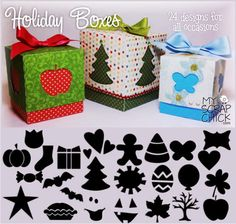cut files svg holiday boxes paper craft