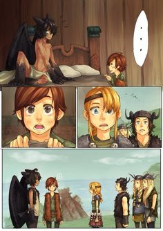 It would be cool to be a dragon, but Hiccups expression at the end XD