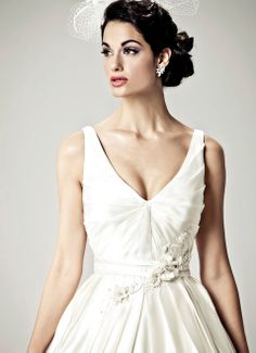 LIZ TAYLOR - Wedding Gown / 2012 Collection - by Matthew Christopher - Available colours : White & Off White (close up)