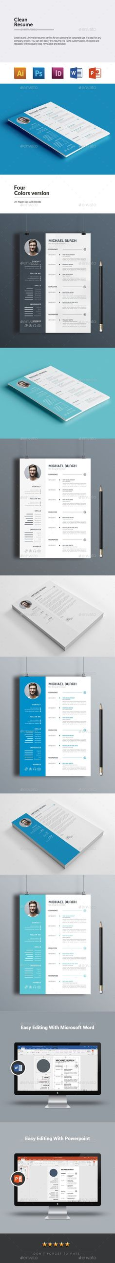 Resume Template, Resume cv and Cv template - microsoft word resume templates 2018