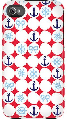 """Anchor Dots"" by Nautical for the iPhone 4/4S Capsule"