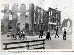 in the Netherlands - Rotterdam May 1940 - Oostplein. Rotterdam, World War Two, Ww2, Netherlands, Holland, Survival, Germany, Street View, History
