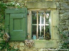 shutter - moss - birdhouse