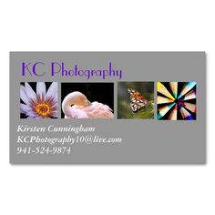 Photography Collage Business Card. This is a fully customizable business card and available on several paper types for your needs. You can upload your own image or use the image as is. Just click this template to get started!