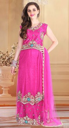 Extraordinary Hot Magenta #LehengaCholi