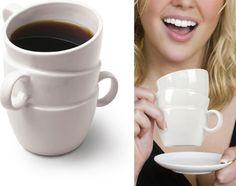 Stacked cups mug