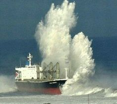 Ocean storm causes cargo ship to run aground on Chilean beach Merchant Navy, Merchant Marine, Tanker Ship, Stormy Sea, Stormy Waters, Ocean Storm, Sports Nautiques, Abandoned Ships, Boat Painting