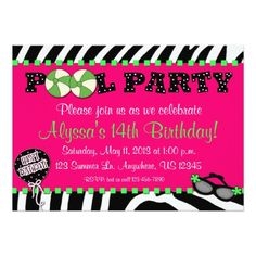 396 Best Pink Birthday Party Invitations Images Pink Birthday