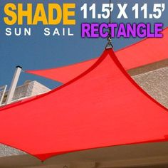 New 11.5'x11.5' Square Rectangle Outdoor Patio Sun Sail Shade Canopy top - Red 11.5x11.5 by MTN Shadesmith, http://www.amazon.com/dp/B008CIJEF4/ref=cm_sw_r_pi_dp_-V9trb17APEXZ