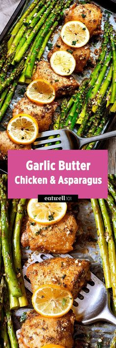 Garlic Butter Chicken and Asparagus — Garlic lovers will love this garlic butter chicken baked with a side of asparagus. Crisp at the perfection, this one pan dish will have your family gathering a…