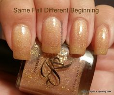 Glittery Fingers & Sparkling Toes: KPT Same Fall Different Beginning Cute Nail Polish, Nail Polish Colors, Get Nails, How To Do Nails, All Things Beauty, Girly Things, French Nails Glitter, Chrom Nails, Finger Nails