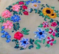 ribbon needlework   Ribbon Embroidery — Craftziners