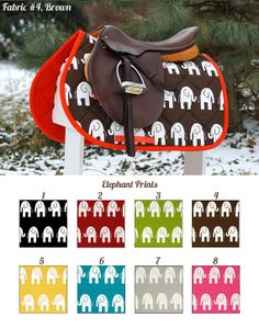 Elephants Saddle Pad by PaddedPonies, $68.00