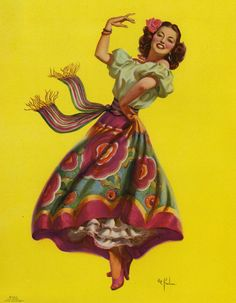 Vintage Mexican pin up..
