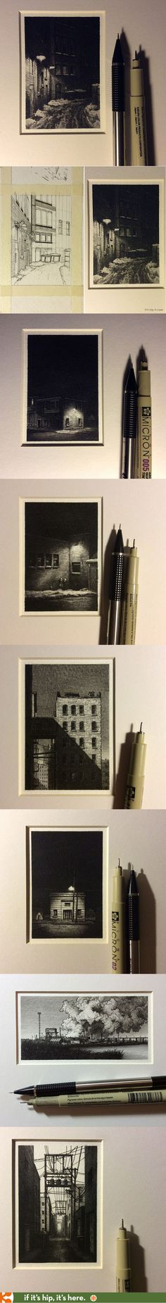 Incredibly detailed micro ink drawings by Taylor Mazer | http://www.ifitshipitshere.com/micro-pen-ink-drawings-taylor-mazer/
