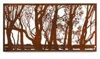 'The Murray' XL decorative wall art by www.entanglements.com.au metal art. Rust finish