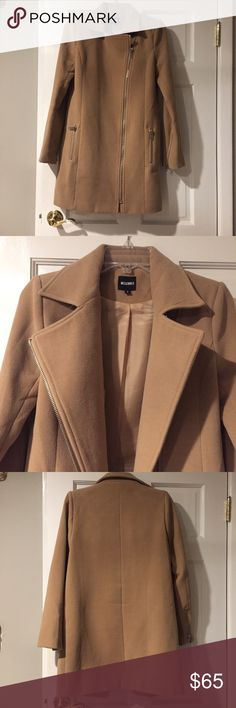 Edgy Style Collared Peacoat Gorgeous and professional with an edge. Only worn a couple of times and amazing condition. The outside of the coat is completely beautiful, there is a slight tear in the lining of the inner shoulder that I'm happy to sew if wanted. UK size 8, US size 4. Offers welcome! Missguided Jackets & Coats Pea Coats
