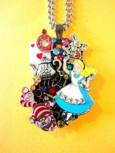 Alice In Wonderland Dog Tag Pendant Number 974 by BradosBling, $44.99