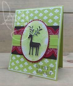 Merry & Bright | Stampin\' Up! | Hearts Come Home | Merry Mistletoe #literallymyjoy #reindeer #Christmas #merry #bright #heatembossing #LemonLimeTwist #2017HolidayCatalog