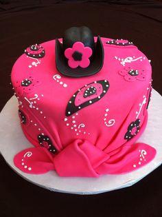 Champagne Flavored Bandana Cake; Western / Cowgirl Cake; Jenny Crocker Cakery