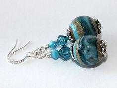 Earrings Handmade Lampwork Earrings Stunning by WendiLindsay, $25.00