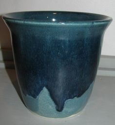 Pottery Stoneware Vase in Teal Blue